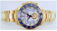 whites gmt - HOT Sales brand new Factory Supplier YachtMaster II GMT White Dial Stainless Steel Automatic Mens Men s Watch Watches