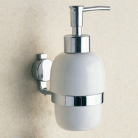 Wholesale Chrome Liquid Soap Dispenser and Holder Whole Copper Hardware Bathroom Shower Soap Holder with Wall Mounted
