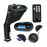 Wholesale car dvd Portable mini speaker Wireless Car Auto MP3 Player Radio FM Transmitter usb kit audio modulator with lcd sd autoradio electronic