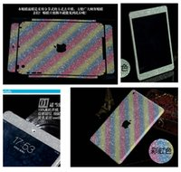 Wholesale Luxury Full Body For Apple Ipad Shiny Glitter Rainbow Cover Bling Diamond Colorful Front Back Side Skin Case Sticker