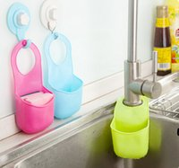 Wholesale Shelves snap sink faucet kitchen sponge hanging rack multi purpose storage Drain A179