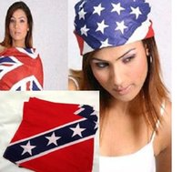 Wholesale New confederate rebel flag bandanas War Flag print bandana headband for adult bandanas confederate flag ps