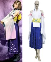 Wholesale Final Fantasy X Yuna Cosplay Costume Custom Size