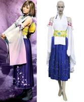 anime cosplay final fantasy - Final Fantasy X Yuna Cosplay Costume Custom Size
