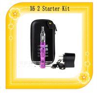 Cheap X6 V2 Starter Kit Electronic Cigarette V2 Atomizer 1300mah X6 Battery 3.6~3.8~4.2 Adjustable Voltage e cigarette Kit for Proank Ego