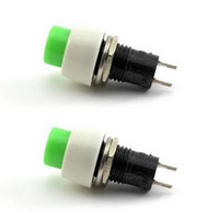Wholesale 2xGreen Electronic Components Mini pin Round Toggle Selflocking Power ON OFF Push Button Switch OT8G Switches VE139 SYSR