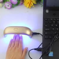 Wholesale 9W Mini USB Nail LED UV Lamp Curing Nail Gel Polish Dryer Led Rainbow Lamp For Nail Art Tools DHL