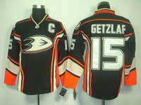 authentic jerseys sell - 2015 Hot selling NHL Men s Hockey Jersey Anaheim Ducks Ryan Getzlaf Authentic Third Hockey Jersey Black Stitched
