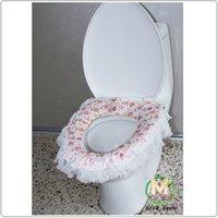 Cheap Pink lace thick pad potty toilet set toilet seat cover rural toilet potty toilet mat wholesale