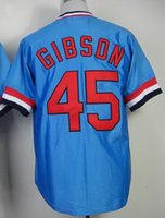 gibson - 2015 Bob Gibson Blue Cooperstown Throwback Stitched Baseball Jersey Buy Various High Quality Baseball Jersey Products