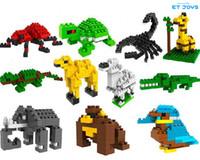 Wholesale Animals Diamond Building Blocks Bag Package Spider Lizard Scorpion Giraffe Sheep Camel Orangutan Elephant Tortoise Bird etc LOZ Blocks Toys