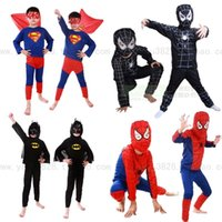 Wholesale 120pcs Halloween costumes Theme Costume Spiderman Batman Superman Zorro Children Cosplay costume Polyester fiber years old SKU A483