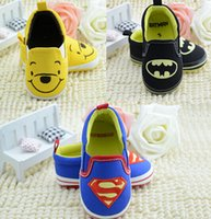 Wholesale Baby Walker Shoes Superman batman tigger thomas minnie cartoon baby shoes boys girls summer spring autumn newborn infant sapatos