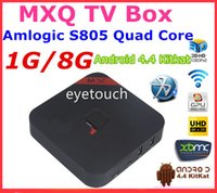 Wholesale Original MXQ TV BOX Amlogic S805 Quad Core Android Kitkat K GB GB XBMC13 WIFI Airplay Miracast D