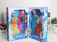 Unisex baby toy boxes - New Arrival Frozen Dolls Frozen Princess Elsa Anna Doll figure Toy in box action fgure change clothes