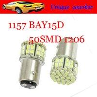Wholesale HK post free Whole Sale S25 SMD LED BAY15D V White brake stop light lamp wedge light