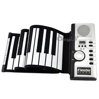 Wholesale Portable Keys Soft Roll Up Electronic Flexible Digital Piano Keyboard Midi Keyboard SKP01W H20