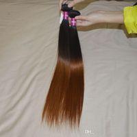 Wholesale Strong Weft Tone Ombre Hair Straight b Auburn Colored g pc Human Braiding Hair A Brazilian Virgin Remy Hair