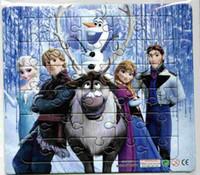 Wholesale Frozen Frozen green paper jigsaw puzzle cartoon combo Sketchpad Puzzle