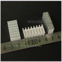 aluminium heatsink extrusion - x30x8mm DIY Extrusion Epoxy Attach On Heatsink Aluminium Cooler Cooling For DIP Fans amp Cooling