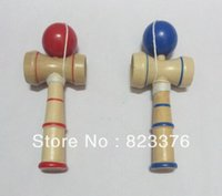 Wholesale DHL Kendama Ball Japanese Traditional Wood Game Toy Education Gift