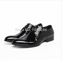 best british bands - TOP best british style real cowhide patent leather qshoes shoes mens brand business dress luxury men fashion shoe y318