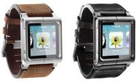 al por mayor correa de cuero nano-La caja de cuero de la correa de la venda del reloj de Muti-Touch de la colección de Chicago para iPod Nano 6 Nano6 6to libera el envío