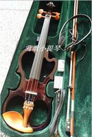 Wholesale Manufacturers selling High quality electronic manual violin Wine red flashing white black electric violin