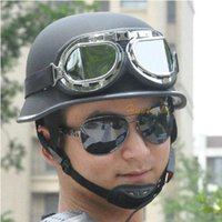 Wholesale Men Women Motorcycle Bike Bicycle Helmet Open Face Half Helmet with Visor Goggles cm