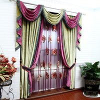 Wholesale 2015 Home Decoration Embroidery tulle High grade chenille stitching curtains Gauze custom living room bedroom balcony blinds