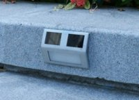 Wholesale 2014 New Outdoor Solar LED White Stairways Landscape Garden Path Wall Lights Lamp light wash denim jeans