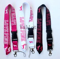 badge holders - Of x VS Love Pink Lanyards Detachable Keychain Badge ID Cell Holder