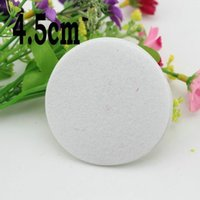 Wholesale 4 cm Round Fabric white non woven Fabric Pads Felt Circles Pads for Flower DIY Flower Accessories