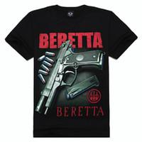 Wholesale Fashion Men Tops Plus Size Short Sleeve D Creative Gun Printing T Shirts Hip Hop Streetwear Tshirts Comfortable Cotton Tees