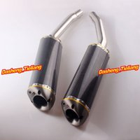 Wholesale Motorcycle Exhaust Muffler Silencer For Suzuki Hayabusa GSX1300R Carbon Fiber Stainless Steel High Quality order lt no track