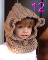 bear hooded scarf - baby bear Hoodie Cowl Animal Hat Hooded Scarf Crochet Hoodie Chunky Crochet Hat Animal Scarf baby brown bear hat