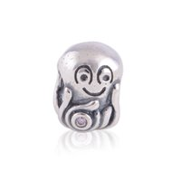 Cheap 925 Sterling Silver Charms 1:1 Original Screw Thread Crimp End LW128 Smile Beads Happy Baby Charm Compatible With European Diy Bracelets