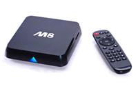 Wholesale M8 Android K TV Box GB G Amlogic S802 Quad Core Cortex A9 XBMC HDMI RJ45 G G WiFi Smart Media Player Mini PC HD