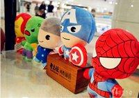 5pcs / set Los juguetes estupendos de los héroes de los héroes de los Avengers2 10cm Thor Spiderman Capitán América Iron Man Hulk Muñeca de la felpa los juguetes populares del regalo de cumpleaños de los niños