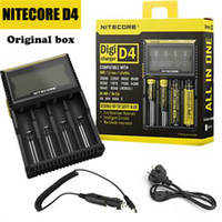 Wholesale 1pc New Nitecore D4 Digicharger LCD Display Battery Charger Universal Nitecore Charger Retail Package with Charging Cable