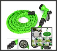 Wholesale 50Pcs ft hose feet expanding hose green flexible expandable garden water Hose with Spray gun S09