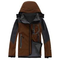Wholesale 2016 New Brand Winter Hiking Jacket Men Windstopper Softshell Jacket Men Waterproof Windproof Outdoor Jacket