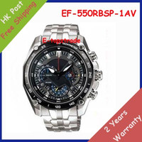 Wholesale New Mens Sports EF RBSP AV Chronograph Black Dial Watch EF RBSP AV Gent Wristwatch Second Stopwatch Pendulum Swing Function