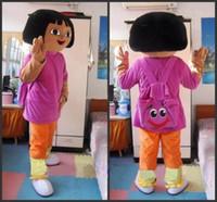 dora mascot - mascot Dora Erwachsene Maskottchen zu GER Polyfoam Head