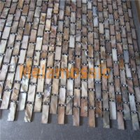 Wholesale China Cheap Dyed Mosaic Pearl Wall Tiles for interior wall decoration Bathroom or Kitchen Backsplash