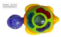 Wholesale 4pcs toys new turtle will lay eggs Dazzle colour glow electric universal music the tortoise15082111