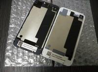 Arrière de la batterie de verre de logement de porte couvercle partie de remplacement avec Flash Diffuseur pour iphone 4 4S DHL libre