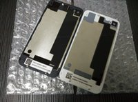 bars doors - Back Glass Battery Housing Door Back Cover Replacement Part with Flash Diffuser for iphone S DHL free