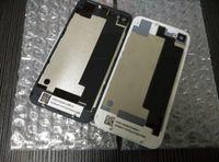 al por mayor iphone 4s puerta-Parte posterior del reemplazo de la contraportada de la puerta de la cubierta de la batería de la parte posterior con el difusor de destello para el iphone 4 4S DHL libera