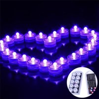 battery tea lights - Underwater Night Lights LED Candle Lights Submersible Tea Light Waterproof Candle Underwater Tea Light Sub Lights Battery for Wedding Party